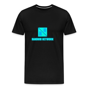 RandomNetwork Black T-SHIRT (Design 2) - Mannen Premium T-shirt