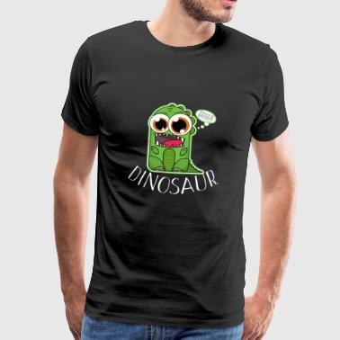 Dinosaurer - små grønne dino - Herre premium T-shirt