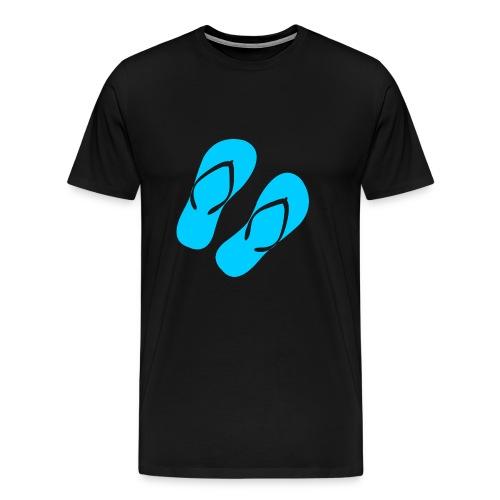 Blaue Flip Flops - Männer Premium T-Shirt