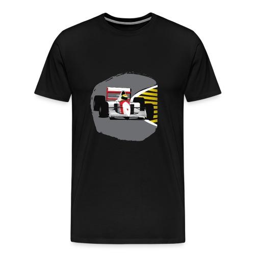 Senna Formula Race Car - Mannen Premium T-shirt