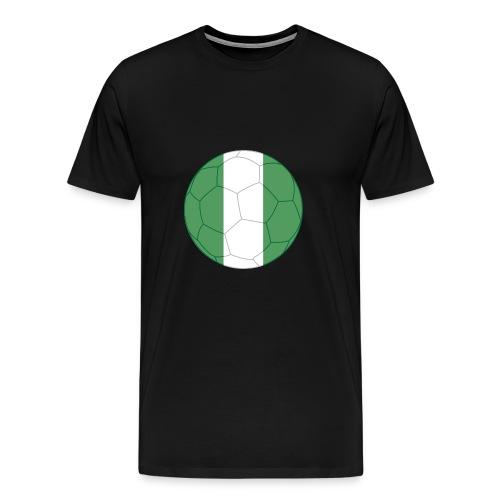 nigeria flag soccer - Männer Premium T-Shirt