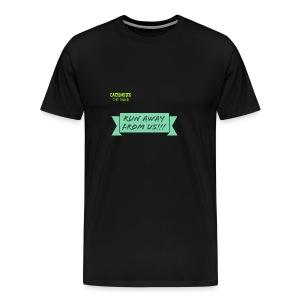 run away from us!!! - Men's Premium T-Shirt