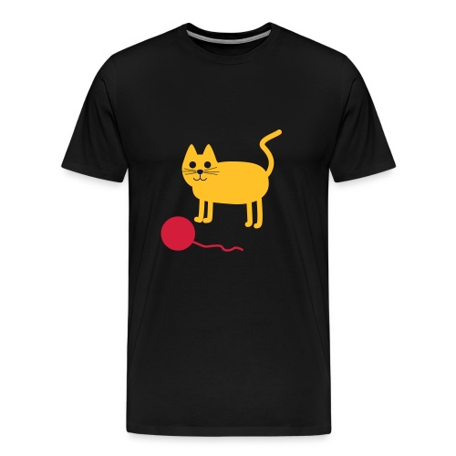 Katze mit Wollknäul - Männer Premium T-Shirt