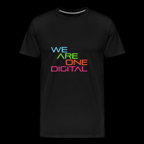 Official We Are One Digital Text Design - Men's Premium T-Shirt