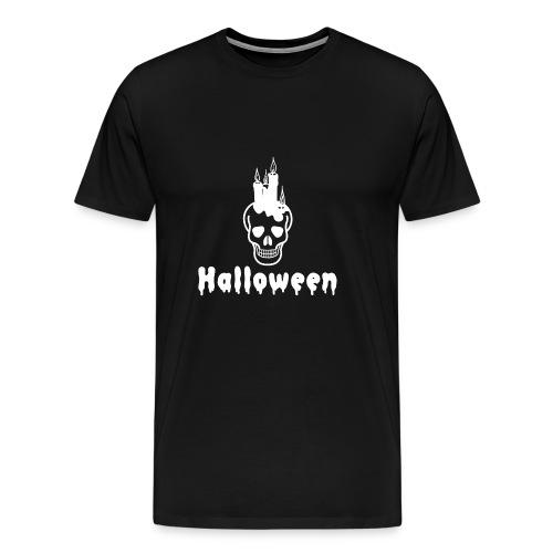TOTENKOPF SKULL HALLOWEEN HORROR OKTOBER MONSTER - Männer Premium T-Shirt