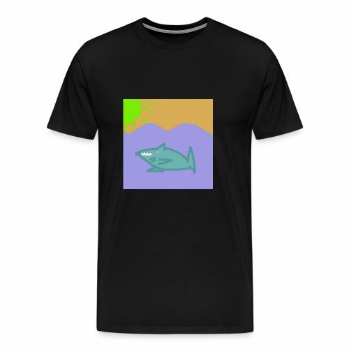 Haj i vatten - Premium-T-shirt herr