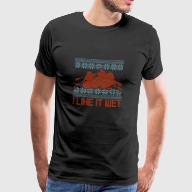 Przechowywać brzydki sweter spływ wody Sports projekt - Koszulka męska Premium