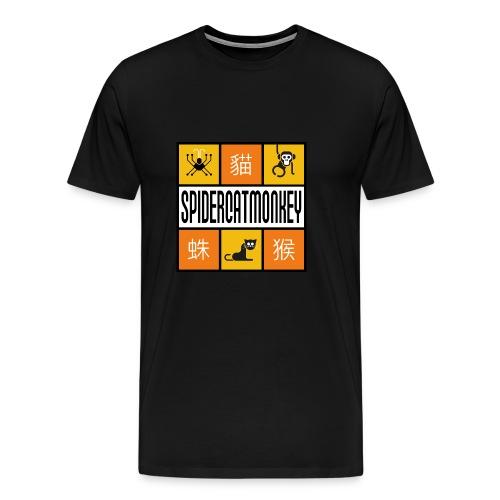 Band-Logo SPIDERCATMONKEY, orange - Männer Premium T-Shirt