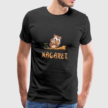 Owl Margaret - Miesten premium t-paita