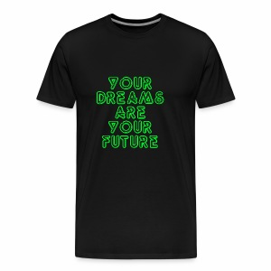 Future Clothing Slogan - Green Text - Men's Premium T-Shirt