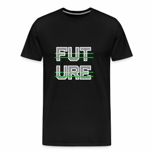 Future Clothing - Green Strips (White Text) - Men's Premium T-Shirt