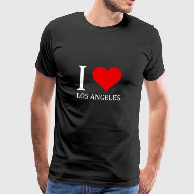I love Los Angeles Design - Männer Premium T-Shirt