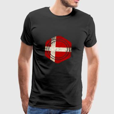 HEXAGON DENMARK GRUNGE - Männer Premium T-Shirt