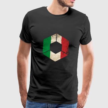 GRUNGE HEXAGONO ITALIA - Camiseta premium hombre