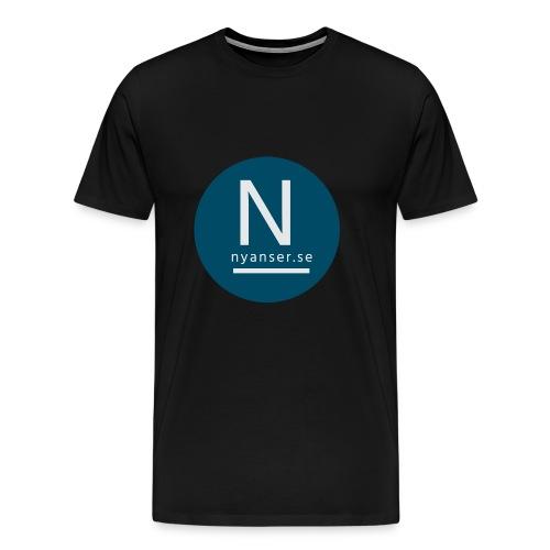 Nyanser.se ärm - Premium-T-shirt herr