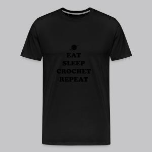 eat sleep crochet - Mannen Premium T-shirt