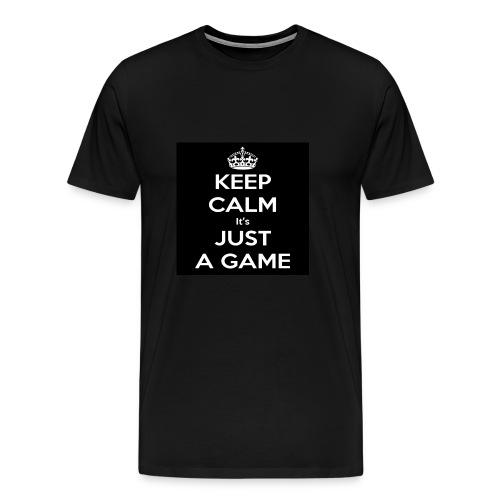 Det är bara ett spel - Premium-T-shirt herr