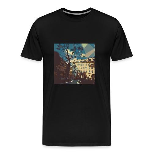 Abstrakt Budapest - Männer Premium T-Shirt