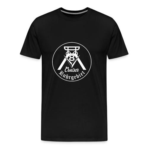 V8-Cruiser Logo weiss - Männer Premium T-Shirt