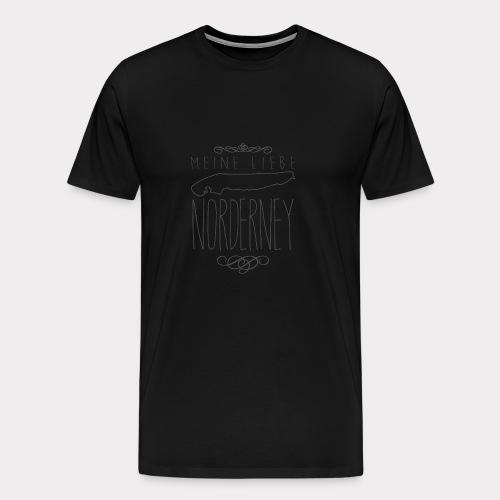 Meine Liebe Norderney - Männer Premium T-Shirt