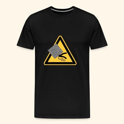 LOGO ohne Namen von ausgerutschterstein.eu server - Männer Premium T-Shirt