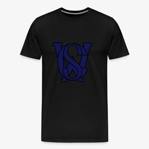 SCW Logo schwarzer rand graue fuellung 07 - Männer Premium T-Shirt