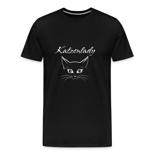 Katzen T-Shirt - Katzenlady - Männer Premium T-Shirt