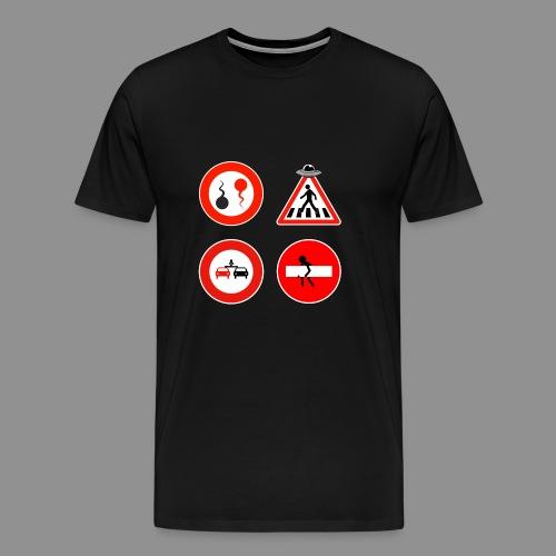 Panneaux Routiers - T-shirt Premium Homme