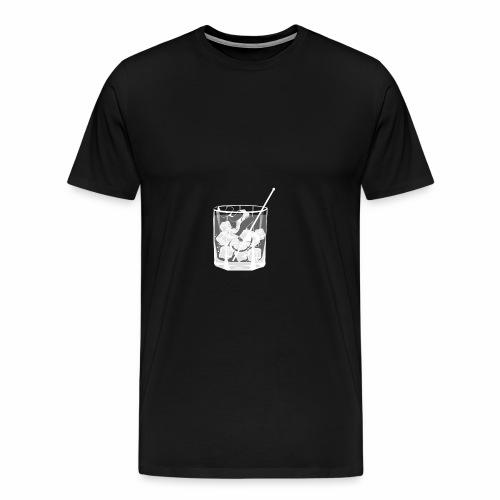Kleines Glas Gin Tonic - Sommerdrink - Transparent - Männer Premium T-Shirt