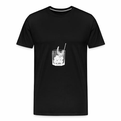 Kleines Gin Tonic Glas mit Rosmarin - transparent - Männer Premium T-Shirt