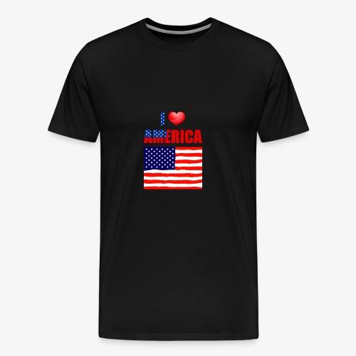 I LOVE AMERICA - Männer Premium T-Shirt