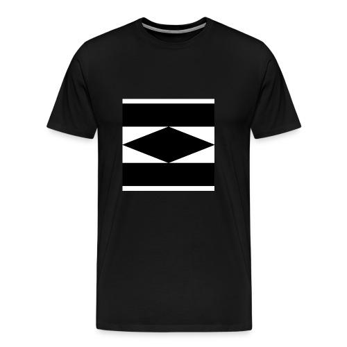 Balken Schwarz - Männer Premium T-Shirt