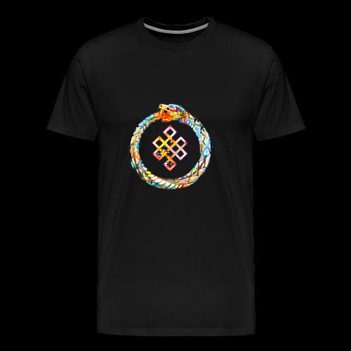 Ouroboros oder Uroboros - UNENDLICHER GlücksKNOTEN - Männer Premium T-Shirt
