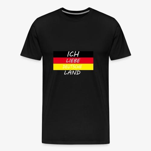 Ich Liebe Deutsche land - Männer Premium T-Shirt