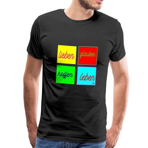 lieben glauben hoffen leben mit Jesus fragt Dich - Männer Premium T-Shirt