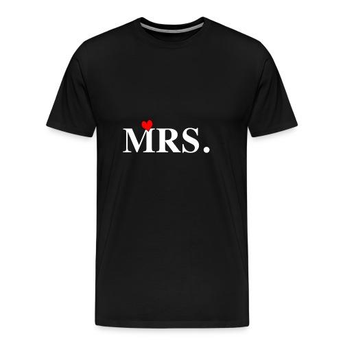 MRS. T-Shirt für Frauen zur Hochzeit! Geschenkidee - Männer Premium T-Shirt