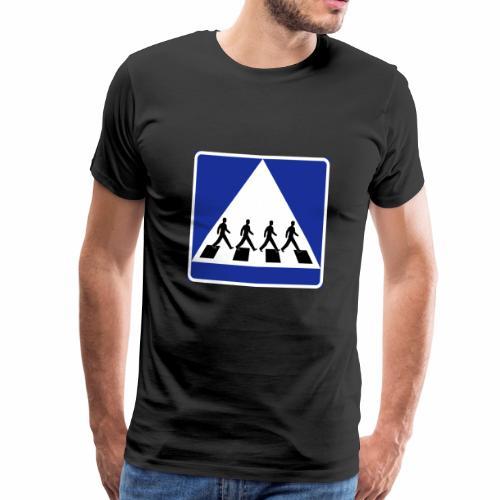 Övergångsställe - Premium-T-shirt herr