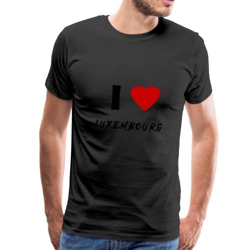 I ♥ Luxembourg - Männer Premium T-Shirt
