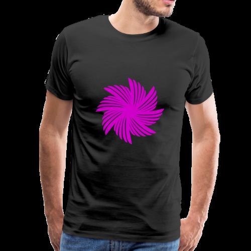 Flügelblume violett - Männer Premium T-Shirt