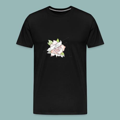 Rose Einzelnd - Männer Premium T-Shirt