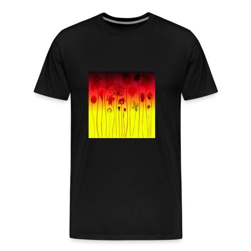 scharz-rot-gold-blume - Männer Premium T-Shirt