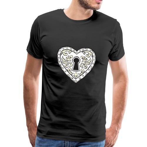 Big Heart Keyhole ♡ - Men's Premium T-Shirt
