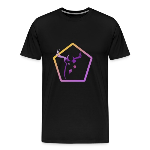 Cerf Pentagone - T-shirt Premium Homme