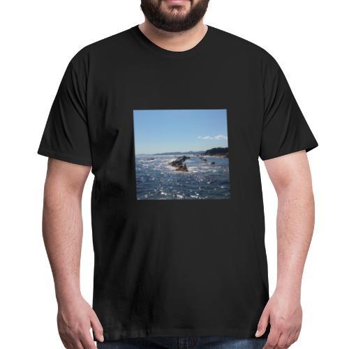 Mer avec roches - T-shirt Premium Homme