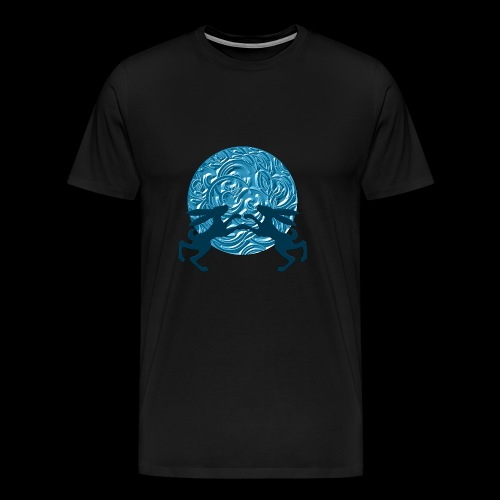 Hares : Once in a blue moon - Men's Premium T-Shirt