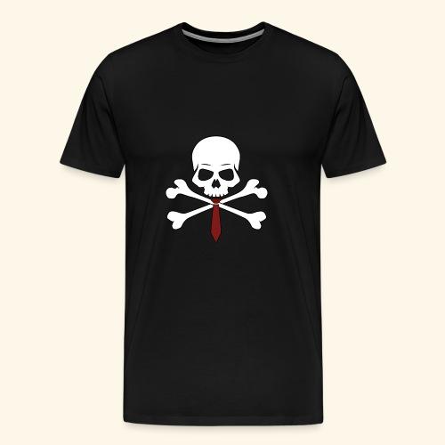 Totenkopf mit Krawatte - Männer Premium T-Shirt