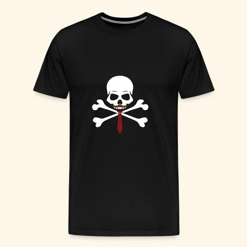 Realistischer Totenkopf mit Bart - Männer Premium T-Shirt