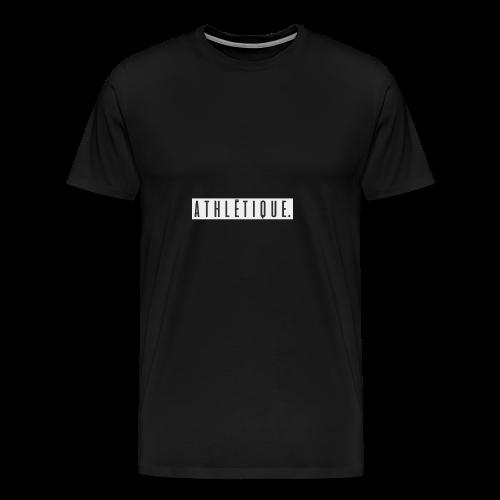 athlétique. (schwarz-auf-weiß) - Männer Premium T-Shirt
