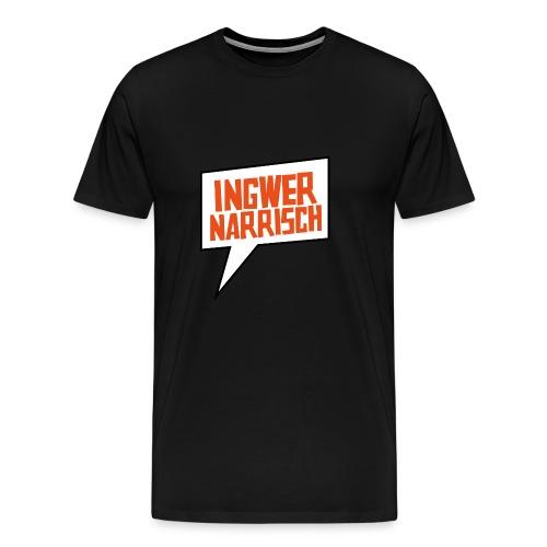Ingwer Narrisch Logo - Männer Premium T-Shirt