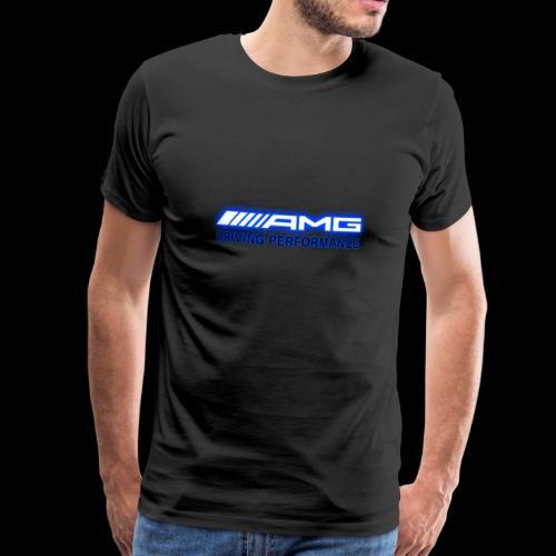 AMG Blue-Edition NEON - Männer Premium T-Shirt
